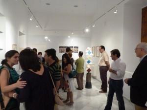 Asistentes a la nueva exposición de la Sala Joaquín Lobato