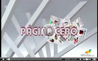 Entrevista a Toñi Nieto y Bauti López en Página Cero (Velevisa) - 26 junio 2015